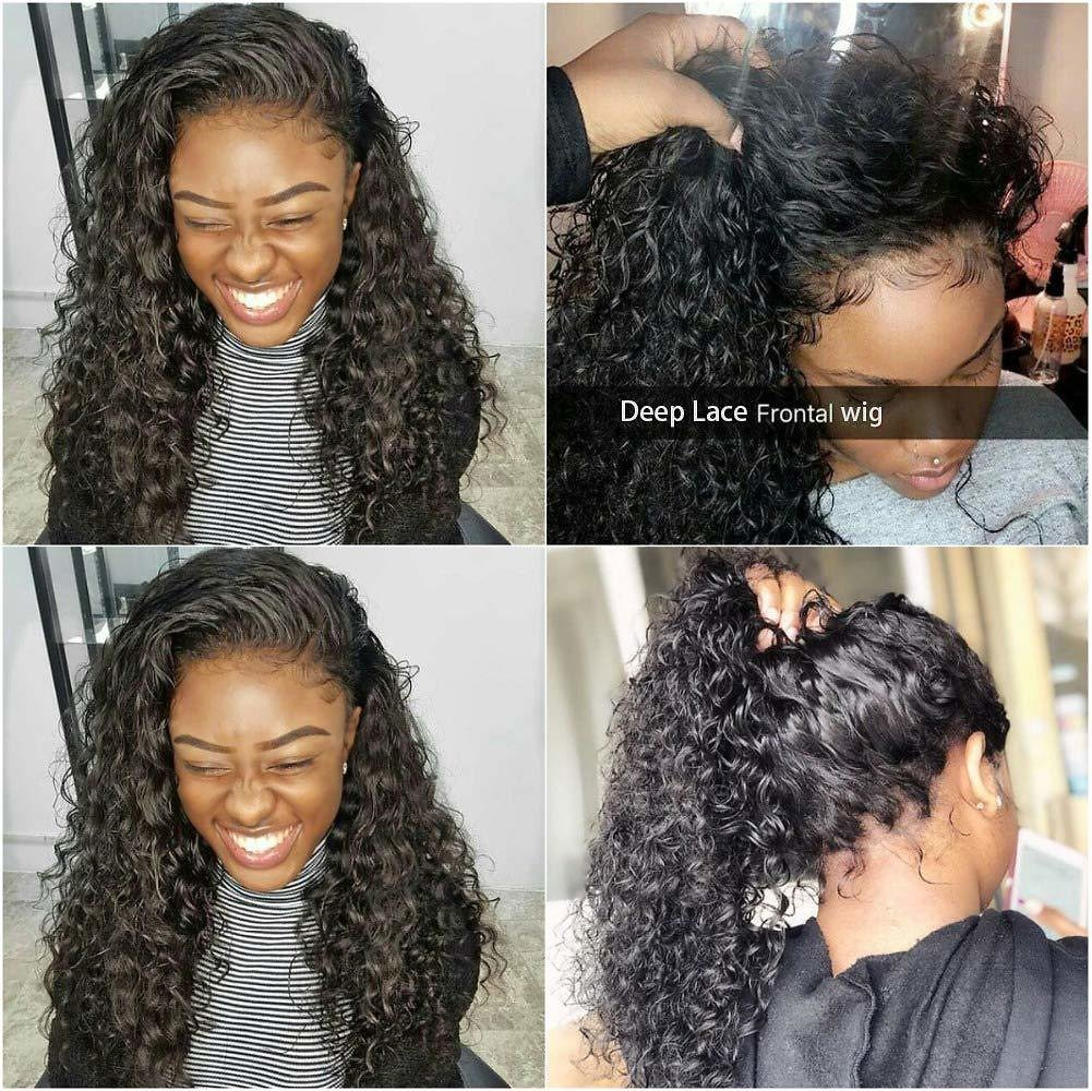 Deep Wave Human Hair   Wet and Wavy Lace Front Wigs