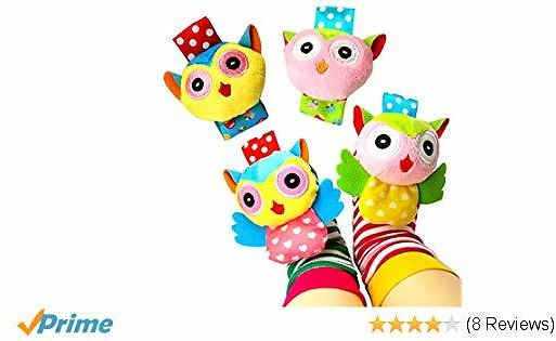 Y Educational Development Animal Rattles Toy Gift for Boys and Girls (4 Packs)