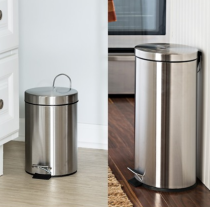 Honey-Can-Do   30L & 3L Stainless Steel Step Can Combo - Set of 2   Nordstrom Rack