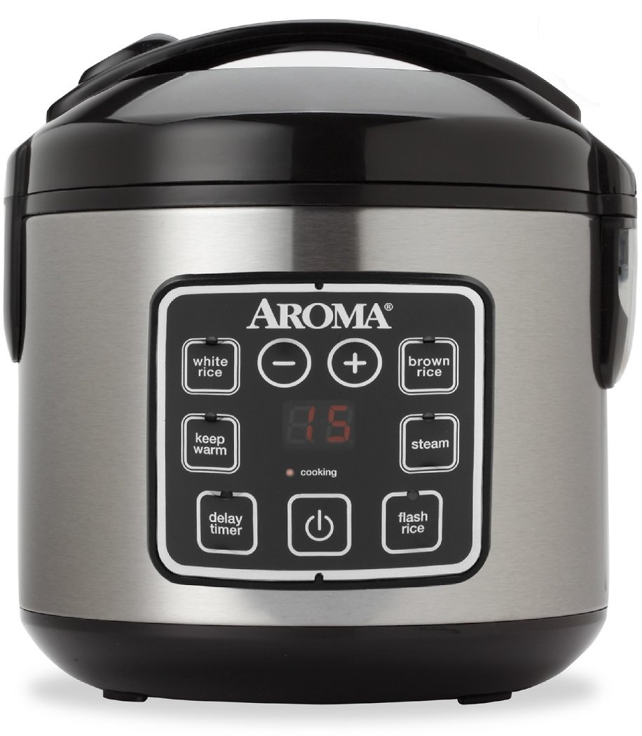 Aroma 8-Cup Programmable Rice & Grain Cooker, Steamer