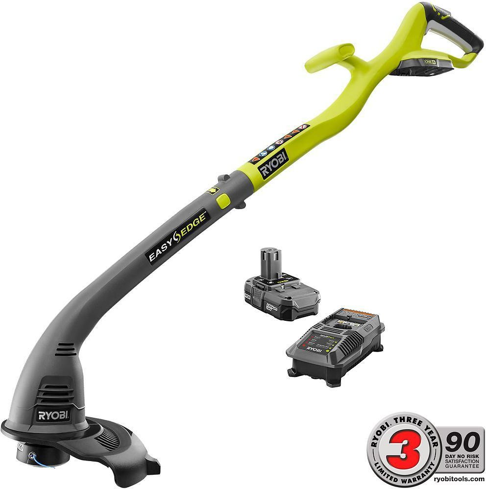 ONE+ 18-Volt Lithium-Ion Electric Cordless String Trimmer & Edger - 1.3 Ah Battery and Charger Included