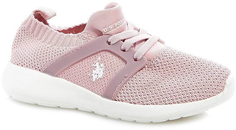 US POLOToddler Girl Stretch Knit Running Shoes