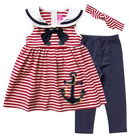 Love This Product Red Stripe Sailor Tunic Set - Infant & Toddler Good Lad.