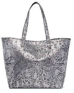 Viva Bags Embossed Tooled Leather Tote Bag