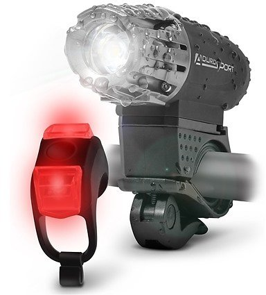 Aduro Sport Bicycle LED Headlight and Taillight USB Rechargeable Bicycle LED Lights Kit