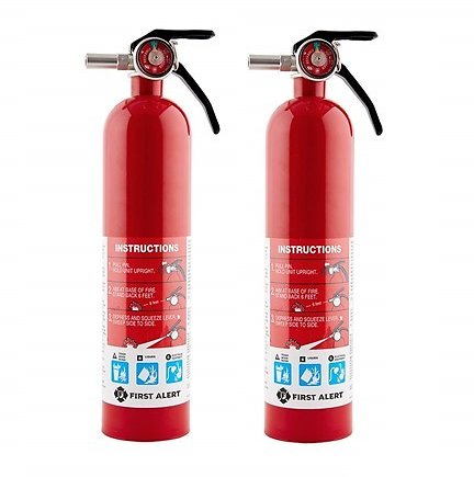 First Alert HOME1 Rechargeable Standard Home Fire Extinguisher (2-Pack)