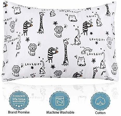 Kids Pillow with Pillowcase, Soft Organic Cotton Toddler Children's Pillows 13X18 for Girls Boys Sleeping, Washable, Best Kids Gift : Baby