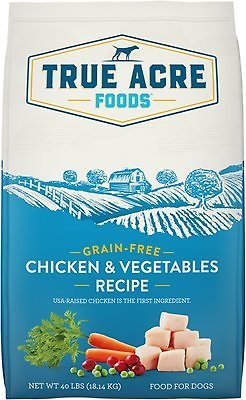 2x True Acre Foods Chicken & Vegetable Recipe Grain-Free Dry Dog Food