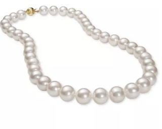 Cultured Freshwater Pearl (9-1/2mm) Collar 18