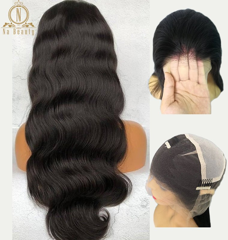 Full Lace Wigs Body Wave Glueless Pre Plucked Natural Hairline With Baby Hair Peruvian Remy Hair Wig Bleached Knots