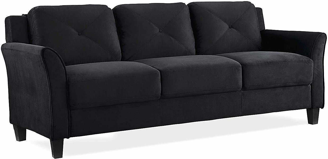 Lifestyle Solutions KD Rolled-Arm Grayson Micro-Fabric Sofa + Ships Free