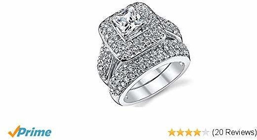 Extra 20% Off Double Fair Wedding Ring Set