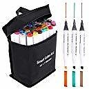 40% OFF  45 Pack Art Markers, 44 Colors and 1 Blender, Dual Tip Permanent Markers with Case by Smart Color Art