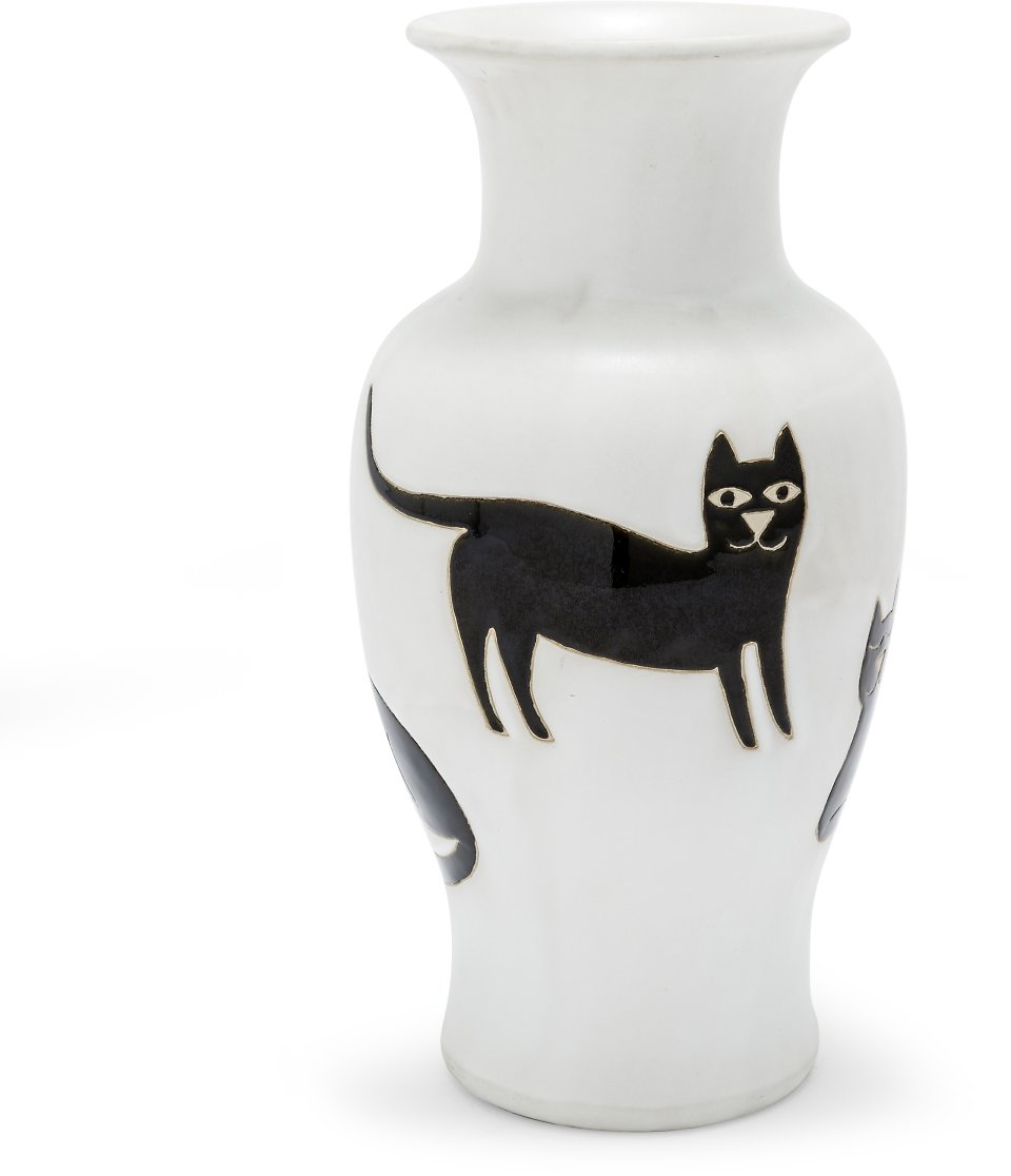 Black Cat Decorative Vase By Drew Barrymore Flower Home