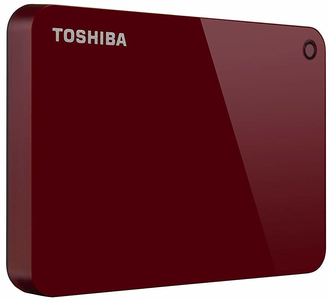 Toshiba Canvio Advance 2TB Portable External Hard Drive USB 3.0, Red (HDTC920XR3AA)