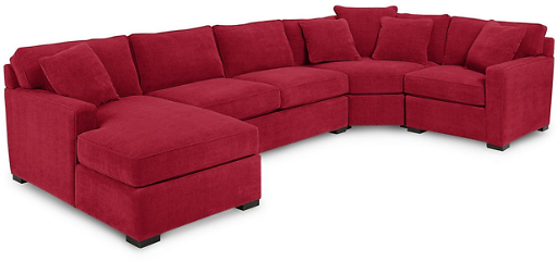 Radley 4-Piece Chaise Sectional Sofa (7 Colors)