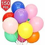 MESHA 12 Inches Assorted Color Party Balloons (128 Pcs): Toys & Games