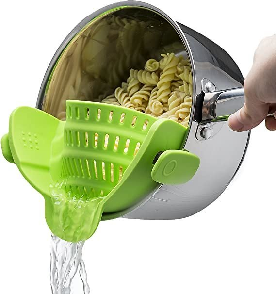Kitchen Gizmo Snap 'N Strain 2 Food Strainer (Multiple Colors)