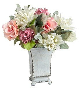 Metal Urn Flower Vase with Artificial Arrangement - Christmas Tree Shops and That! - Home Decor, Furniture & Gifts Store