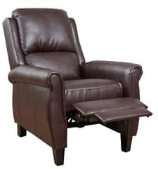 Noble House Haddan Burgundy PU Leather Recliner