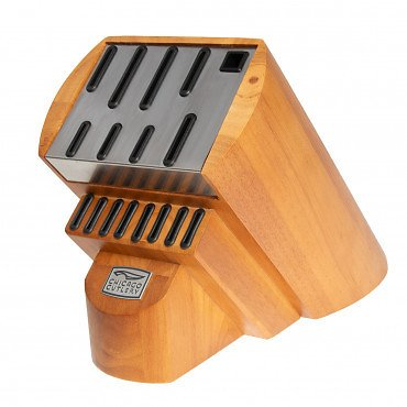 (Ships Free) Wood & Steel Fusion Knife Storage Block By Chicago Cutlery
