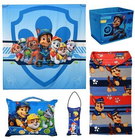(ROLLBACK) PAW Patrol 5Pc Kids Bedroom Set w/ Pillows, Blanket, Storage, and Tapestry