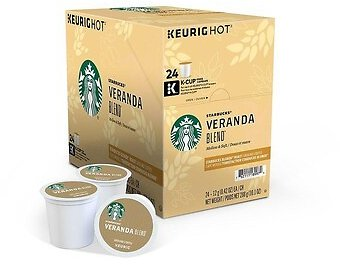 Starbucks Veranda Blend Coffee, Keurig® K-Cup® Pods, Light Roast, 24/Box (9577) | Quill.com