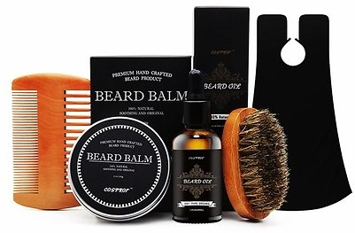 Beard Grooming & Trimming Kit for Men Care,Shaping & Growth Gift Set