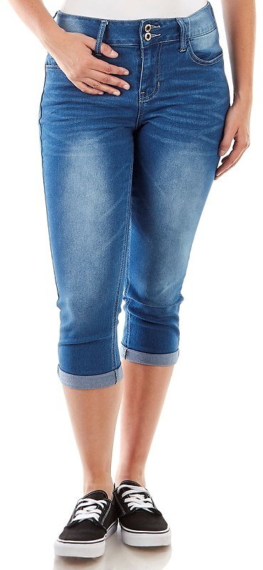 High Waisted Rolled Cuff Denim Capris (7 Colors)