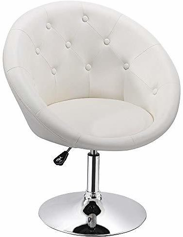 (Ships Free) Adjustable Modern Round Tufted Back Chair Tilt Swivel Chair
