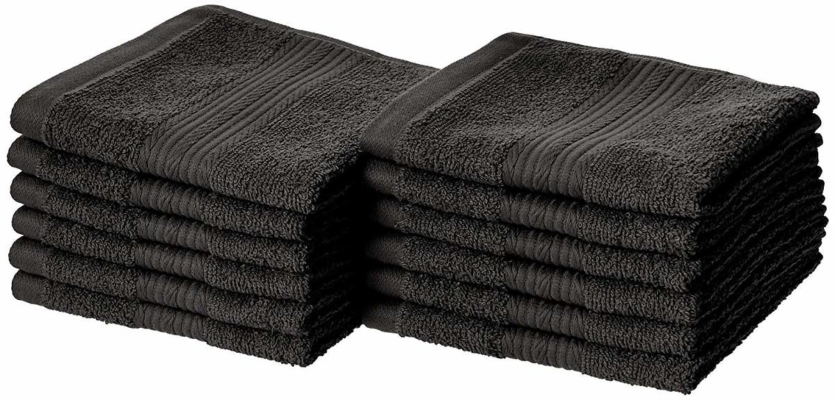 12-Pack Fade-Resistant Cotton Washcloth