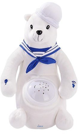 Barry Polar Bear Nightlight Soother with Favorite Lullabies Nature Sounds and Projecting Stars & Moon Light By Dimple