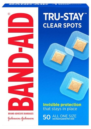 50-Count Band-Aid Brand Tru-Stay Clear Spots Bandages