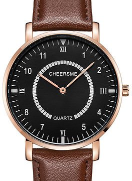 CHEERMES 253 Waterproof Men Wrist Watch Casual Style Ultra-thin Design Quartz