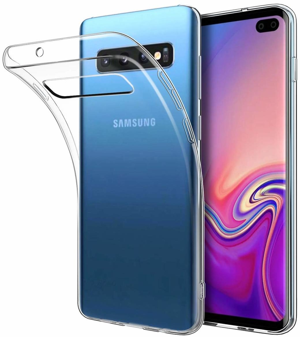 DiMiK Case for Samsung Galaxy S10, [Support Wireless Charging] Clear Thin Soft Silicone Ultra Slim Fit Crystal