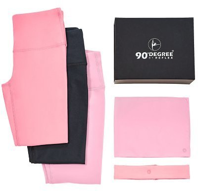 90 Degree High Waist Yoga Legging Trio Set