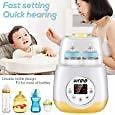 Wrea Baby Bottle Warmer Bottle Sterilizer 5 in 1 Smart Bottle Warmer Deluxe Baby Food Heater for Breast Milk Formula with LED Real Time Display Evenly Warming Timer Accurate Baby Shower Gift (No.1) : Ustyle