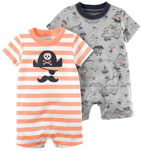 2-Pack Pirate Rompers