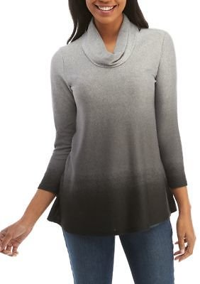 New Directions® Long Sleeve Cowl Neck Ombre Hacci Sweater