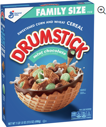 Drumstick Mint Chocolate Ice Cream Cereal