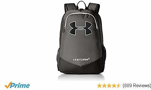 Under Armour Boy's Storm Scrimmage Backpack, Graphite (040)/White, One Size