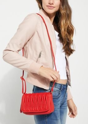 Red Scrunched Crossbody Bag