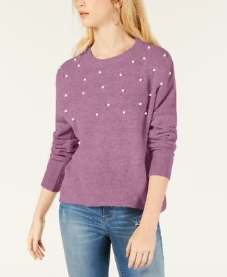 Juniors' Faux-Pearl Pullover Sweater