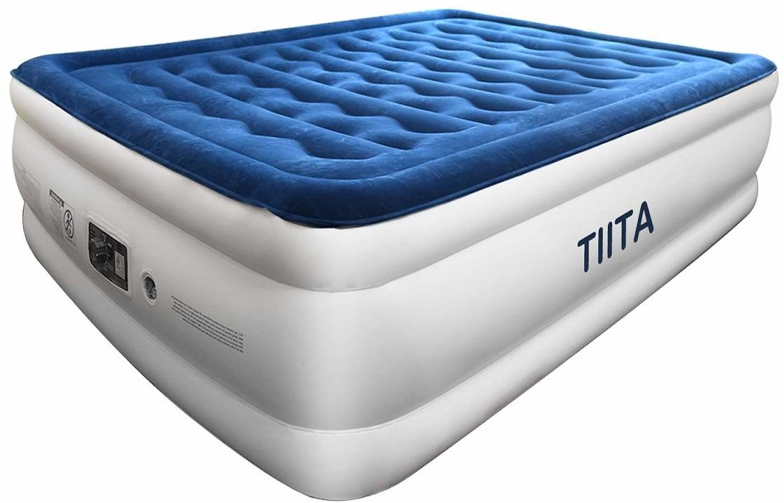TIITA Queen Air Mattress with Built-in Pump, No Leakage Raised Inflatable Air Bed $39.99