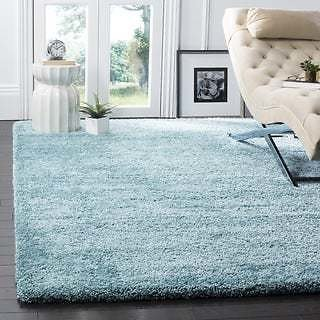 Safavieh Milan Shag Aqua Blue Rug - 3' X 5' | Overstock.com Shopping - The Best Deals On Area Rugs