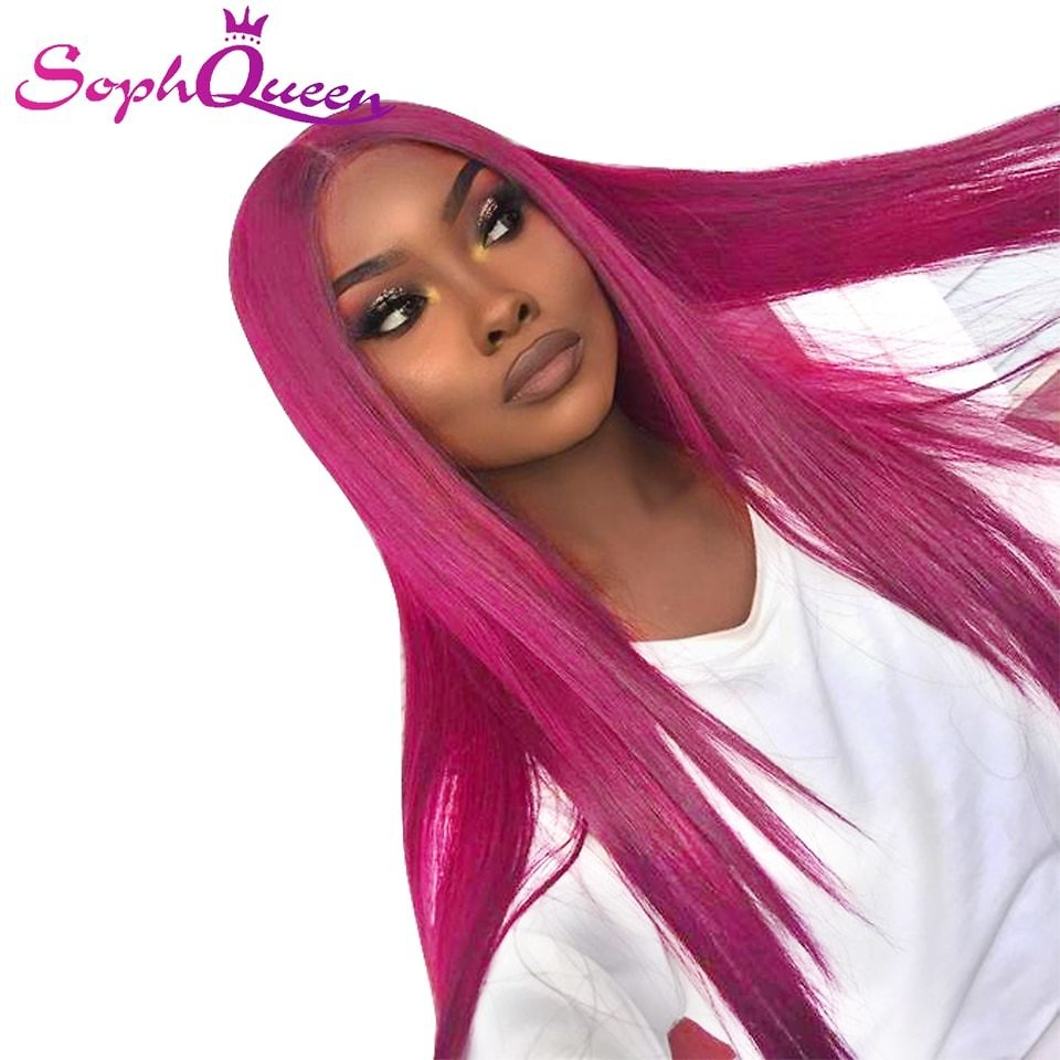 Straight Lace Front Human Hair Wigs For Black Women Omber Human Hair Wigs 4*4 Lace Front Wig Pre Plucked Middle Part