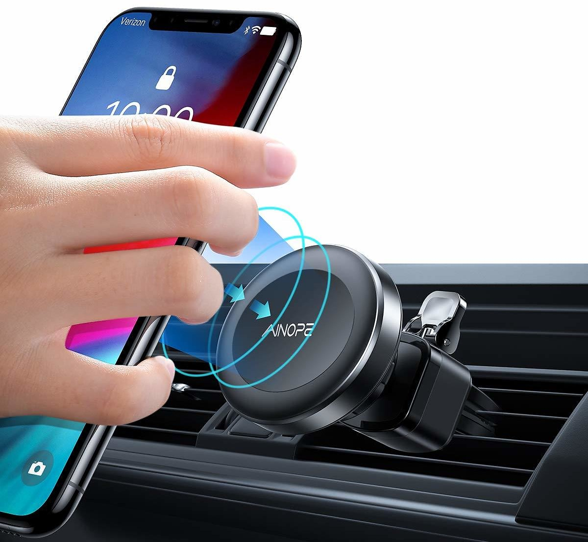 Phone Holder for Car, Upgrade 6 Strong Magnetic Car Phone Mount 360° Rotation Phone Magnet Car Mount Air Vent Phone Holder Compatible IPhone Xs MAX/XR/X/8/7, Galaxy Note 9/S10/S8/S7, IPad Air 2/Mini 3: Cell Phones & Accessories