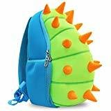 NOHOO Kids Dinosaur Backpack With Leash 3D Toddler Backpacks for Boys And Girls 2-7 Years (Green): Clothing