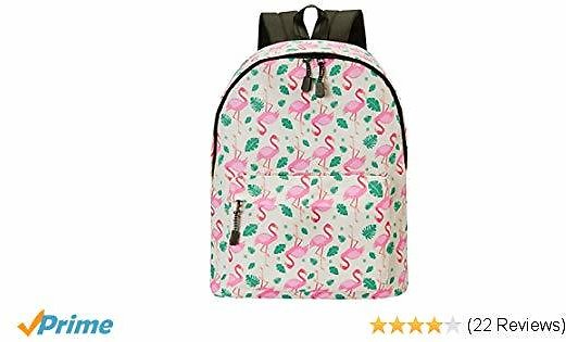 30% Off Save for 20.5L Unisex Backpack Durable Flamingo Printing Geometric Laptop Daypack Rucksack for College Travel