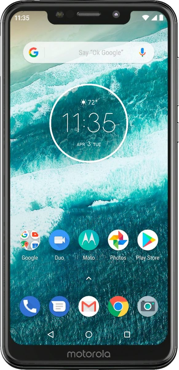 Motorola One with 64GB Memory Cell Phone (Unlocked) White PAD30017US